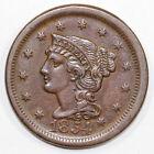 1854 1c Braided Hair Large Cent