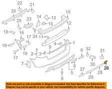 AUDI OEM 09-13 A3 Rear Bumper-Cover 8P4807303HGRU