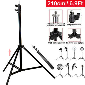 6.9ft Telescopic Tripod Stand For Digital Camera Camcorder Phone Holder & iPhone