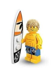 Lego Surfer Man minifig Surf Board City Town 8684 Minifigures Series 2
