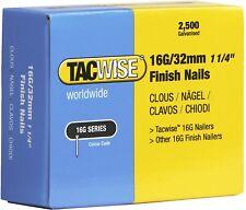 "Tacwise 16g 32mm 1 1/4"" Finish Nail 2500pcs 45897"
