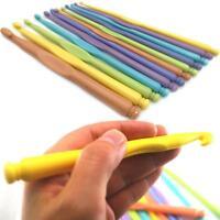 12Pcs Crochet Hook Soft Grip Set Handles Knitting Needles Multi-Colour