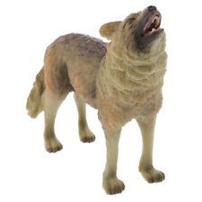 Plastic Wolf Wild Zoo Animal Figurine Model Colletcion Toy Kids Xmas Gift