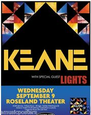KEANE/LIGHTS 2009 PORTLAND CONCERT TOUR POSTER