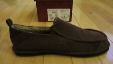 Nice NEW Arizona Wilson Mens Slip On Slippers, Size 9, Brown with Faux Fur