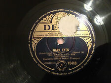 """TED HEATH And His Orchestra """"Dark Eyes""""/""""You Go To My Head"""" 10"""" 78rpm 1953 VG"""