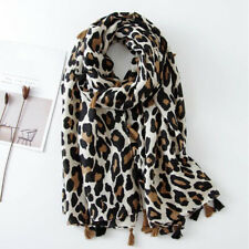 Ladies Leopard Scarf Cotton Scarves Thin Section Beach Scarf Warm Wild Dual-use