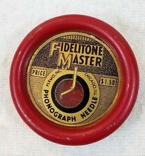 Antique Fidelitone Master Phonograph Needle with Felt Record Cleaner by Permo