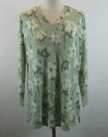 Denim & Co.Printed Brused Heavenly Jersey Tunic Top M Sage NEW A346284