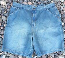 Big Tall HB Company Denim Carpenter Shorts Size 44 Cotton Blue Faded Men's