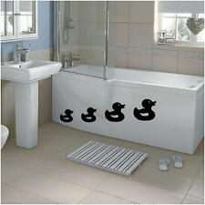 4 X RUBBER DUCKIE DUCK BATH WATER STICKER DECAL ART FUNNY BATHROOM VINYL ANY