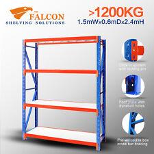 Longspan Industrial Storage Garage Shelving Racking Rack Shelf, 1.5Wx0.6Dx2.4H S