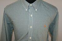Ralph Lauren Mens Dark Green Gingham Check Button Down Shirt Size XL