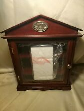 JACK DANIELS OLD NO. 7 WHISKEY CABINENT AND GLASS SET RARE LIMITED EDITION