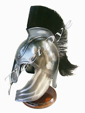 TROY ARMOR HELMET WITH PLUME - TROY HELMET MOVIE PROP REPLICA SCA LARP
