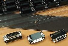 Dee Plug 15 Way Right Angle Male D 15W PCB Tin Shell DPRM3-15P x 1pc Free Post