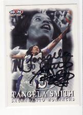 Tangela Smith Sacramento Monarchs Iowa Autographed Basketball Card