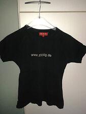 Baumwollshirt von M.W.W. Gr. M; Aufschrift www.zickig.de, sehr dunkles braun