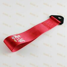 FOR FRONT or REAR BUMPER JDM MUGEN HIGH STRENGTH RACING TOW TOWING STRAP HOOK