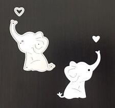 Artesanías Metal Bebé Elefante & Corazón DIE Cutter