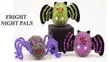 """Fright Night"" kit makes 3  Ornaments Halloween Spider, Bats new"