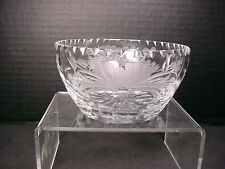 "Royal Brierley Crystal  Honeysuckle Pattern  Bowl 4.5"" wide x 2 3/8"" high"
