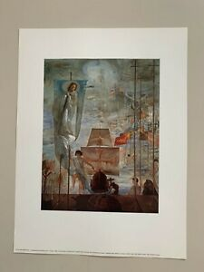 SALVADOR DALI, 'THE DISCOVERY OF AMERICA BY C. COLOMB,1959' RARE 1993 ART PRINT