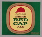 Carling Red Cape Ale Beer Label - green