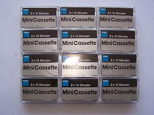 10 Stück Magna Diktiergerät Mini-Cassette 30min Kassetten Mini auch f. AB - NEU