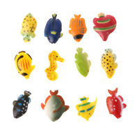 12Pcs Animal Fish Model Figures Educational Science Toys for Kids Toddlers