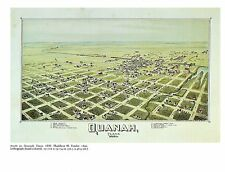 "TARRANT TEXAS 1976 Vintage CITY /""FORT WORTH 1876 /"" Color Art Print Lithograph"