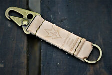 JP Leathercraft Handmade FUNIS leather keychain key keeper and holder Natural