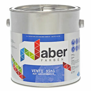 2,5 L Ventilack Wasserbasis 3 in 1, RAL 7012 BASALTGRAU, Seidenmatt