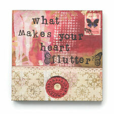 """Kelly Rae Roberts 6"""" Wall Art What Makes Your Heart Flutter"""