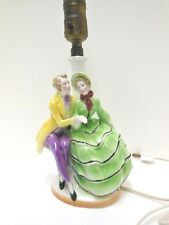 Vintage Bavaria Porcelain Figurine Boudoir Table Lamp
