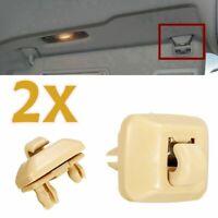 2x Beige Inner Sun Visor Hanger Clip Hook 8E0857562A For Audi A1 A3 A4 A5 Q