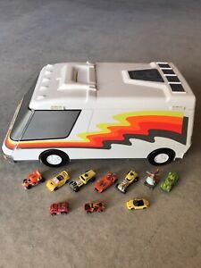 Micro Machines Super City Van Playset Vintage Galoob Toy Transformers Hot Wheels
