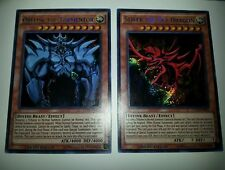 YUGIOH! EGYPTIAN GOD CARDS OBELISK AND SLIFER - Secret Rare - Limited Edition NM