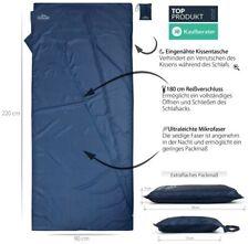 Ultra-Leichter Hütten- & Reise-Schlafsack aus Mikrofaser - nur 200 g