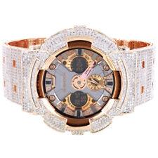 Mens Casio G Shock GA 200GD Analog Digital Luxury Custom Bling Band Bezel Watch