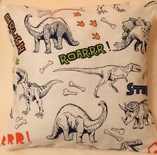 Dinosaur Jurassic Handmade cushion cover/pillow case 12 x 12 inch