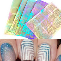 Nail Art Transfer 3D 3 Sheet Stickers Design Manicure Tips Decal Decoration Tool