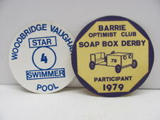 Barrie Optimist Club Soap Box Derby 1979-Woodbridge Vaughan Pool Swimmer Patches