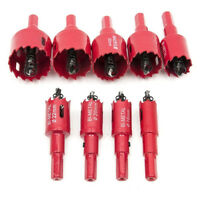 16mm-53mm HSS Hole Saw Tooth Kit Drill Bit Set Cutter Tool Cutting Metal Wood-~
