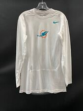 MIAMI DOLPHINS GAME USED DRI-FIT LONG SLEEVE COMPRESSION SHIRT XL