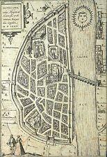 MACON - Vogelschau - Braun-Hogenberg - Matiscona - Kupferstich 1580