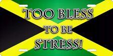 Jamaican flag bob marley airbrushed car tag license plate 11