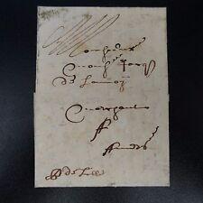 """1667 LETTRE COVER """"P DE LILLE"""" MANUSCRIT (PORT DE LILLE) ROUBAIX POUR ANVERS"""