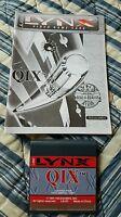 Qix AND Instruction Manual -near mint- for the Atari Lynx. No Box