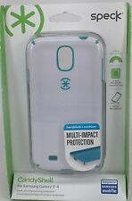 NEW Speck CandyShell Case for Samsung Galaxy S4 White / Caribbean Blue S 4 Cell